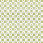 Lewis & Irene - Love Me Love Me Not - 5851 - Rows of Daisies on Pale Grey - A274.1 - Cotton Fabric